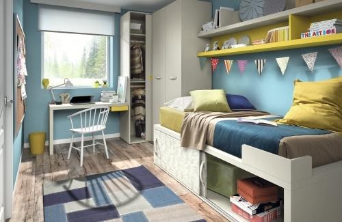 Dormitorio juvenil nido puertas correderas