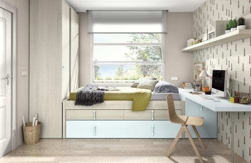 Dormitorio juvenil compacto 64
