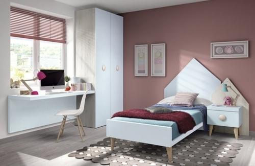 Dormitorio house azul nube-roble leño