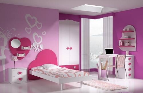 Dormitorio corazon rosa