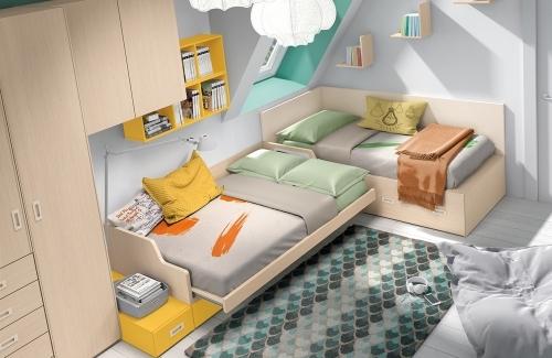 Dormitorio juvenil modelo Style Tatami Evo con arcón abatible
