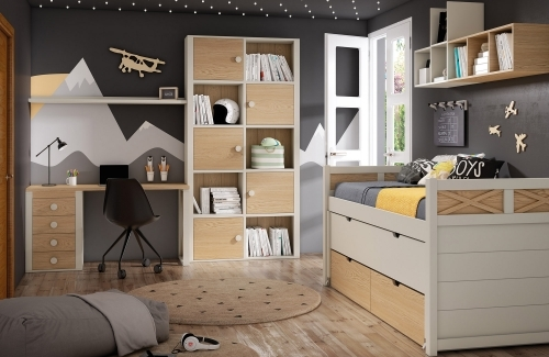 Dormitorio juvenil colección Aspas