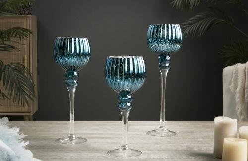 Copa vidrio degradado azul  Ref.  91-244