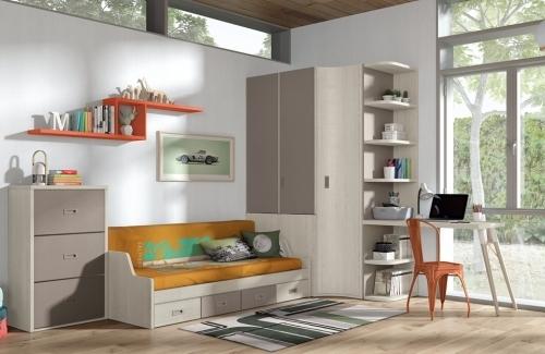 Dormitorio juvenil modelo Style nido Evo 4 cajones
