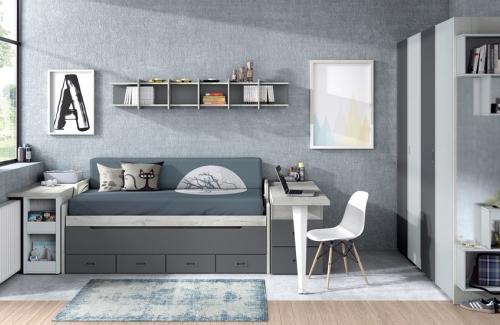 Dormitorio juvenil modelo Style nido Evo doble