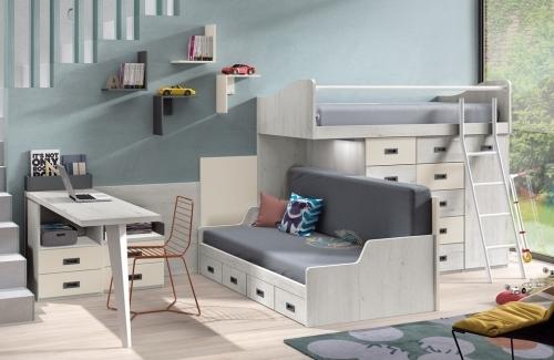 Dormitorio juvenil modelo Style Evo 4 cajones Mozart