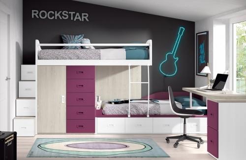 Dormitorio juvenil modelo Style Nido Eco