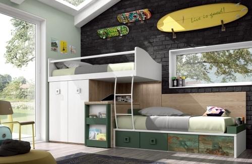 Dormitorio juvenil modelo Style Nino ECO librero