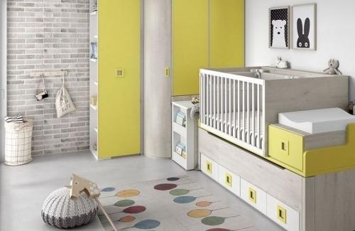 Dormitorio juvenil modelo Style cuna para compacto