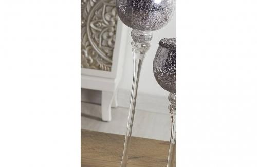 Copa vidrio craquele plata. Ref.91-207