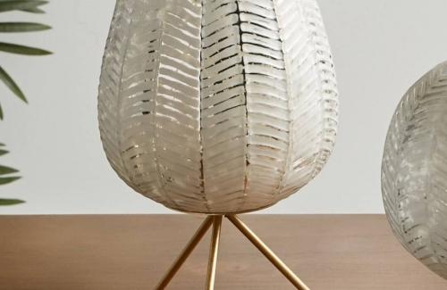 Portavelas cristal  oro Ref. 90-721